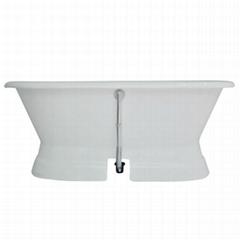 Pedestal Cast Iron Bathtub