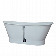 Cast Iron Tub with metal skirt