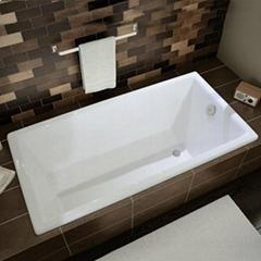 Deep Built-In Cast Iron Bathtub