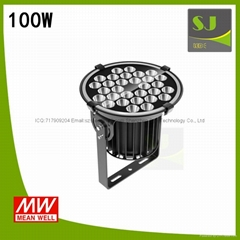 100W LED Stadium Light Stage Lighting 5 Years Warranty
