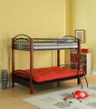Twin Futon Convertible Wooden Post Bunk Bed 2