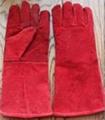Cow split leather welding work gloves