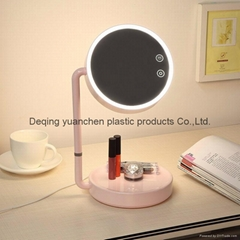 LED Makeup Mirror Wide View Rotatable Adjustable  Desk Lamp double side light