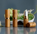 Eco-friendly bamboo lipstick tubes with