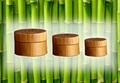 Cosmetic bamboo cream  jars