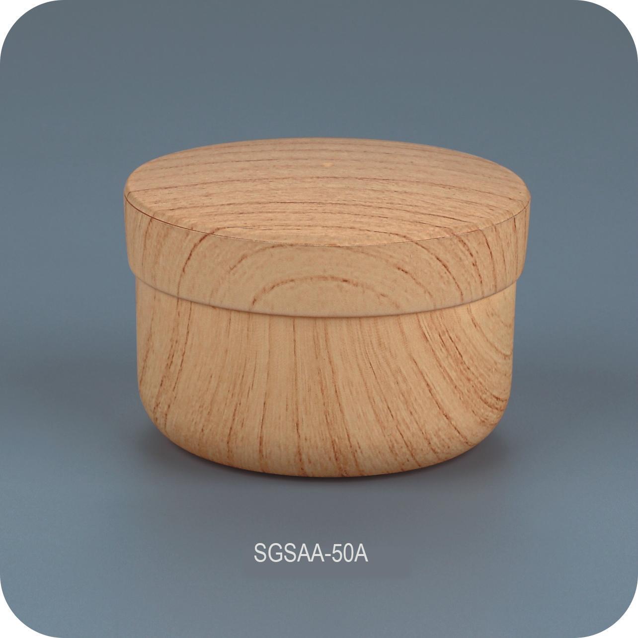50ml Plastic cosmetic jars with custom bamboo pattern 1