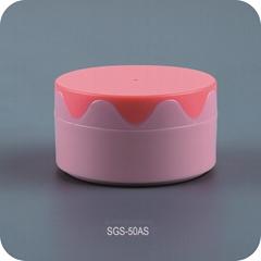 cosmetic packaging colorful cream jars