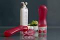 Cosmetic massage tubes with V shape