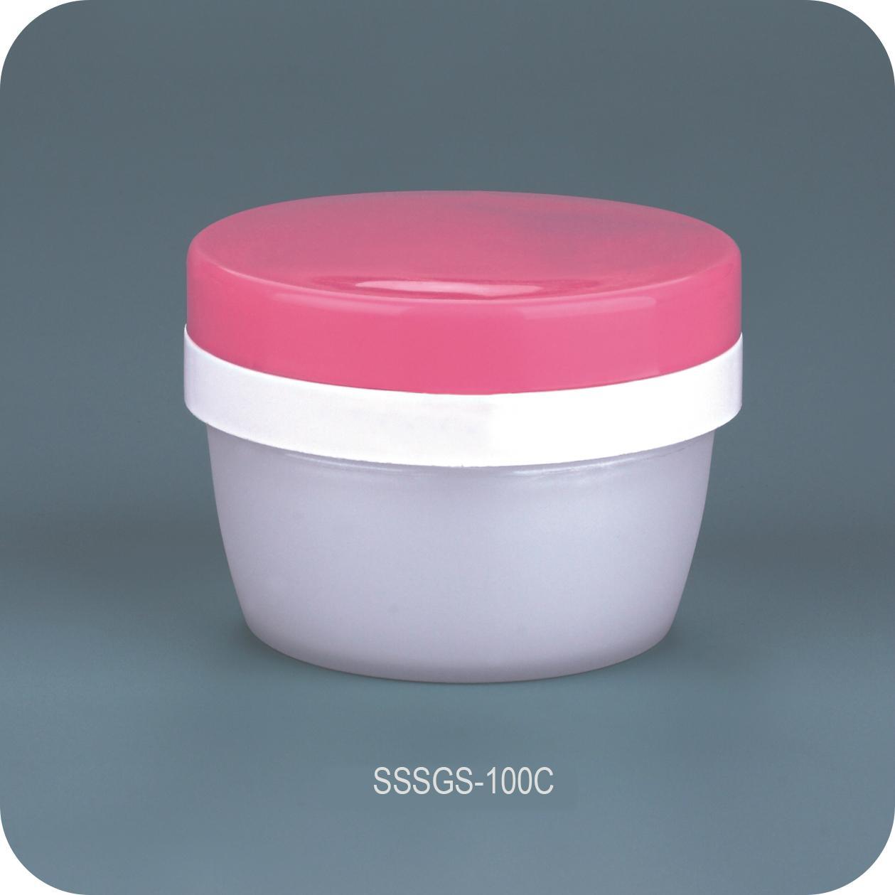 50ml Plastic cosmetic jars with custom bamboo pattern 2