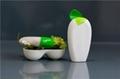 HDPE shower gel shampoo bottle with leaves design