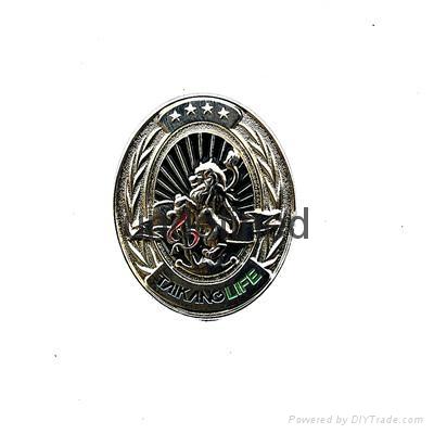 Hongfuxinzinc Alloy Struck 3D Metal Badge  3
