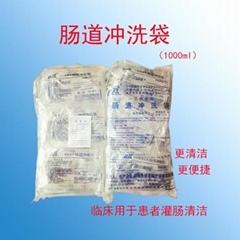 Disposable intestinal douche bag