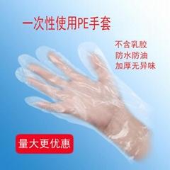 一次性使用聚乙烯檢查手套 PE薄膜手套