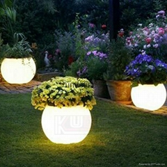 Plastic Planter Pots Illuminated LED Planters