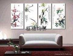 梅蘭竹菊四君子裝飾畫