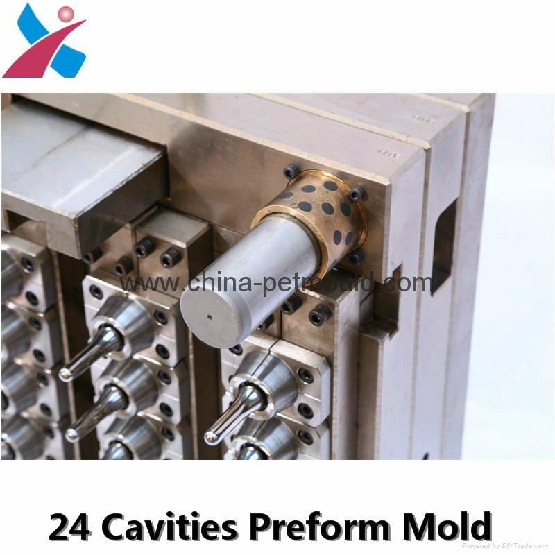 32cavity hot runner valve-gate preform mould 5