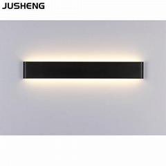 6W Black Aluminum LED wall lamp for indoor home living room lighting 110-240v ac
