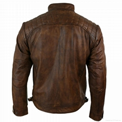 LEATHER MEN FASHION JACKET KMX-0082