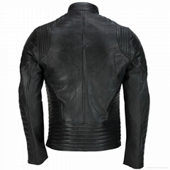 LEATHER MEN FASHION JACKET KMX-0083
