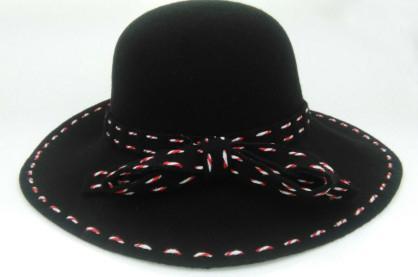cda79e4445f wavyedge string black wool felt round top hat - 02 - Xinyu (China ...