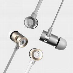 DZAT DR-10 Headphone Sport Earbuds Stereo Earphone with Mic Earbud Stand