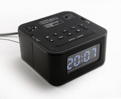 Stereo clock radio Bluetooth speaker with US Sockets