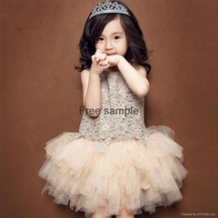 2017  top quality new stylish boutique  baby girls dress party dress (Hot Product - 1*)