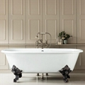 double ended cast iron bathtub on