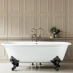 double ended cast iron bathtub on