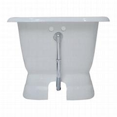 Single Round Pedestal Cast Iron Bathtub