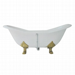 Cast Iron Double-Slipper Clawfoot Tub