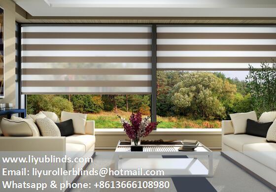 Liyu zebra sheer roller blinds shades 1