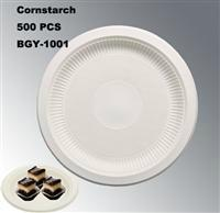 New Cornstarch material Disposable Biodegradable Tableware Eco-Friendly Plates