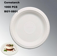 8 Inches Disposable Biodegradable Tableware Eco-Friendly Plates