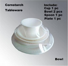 Disposable Cornstarch New Material Eco-Friendly Cutlery Tableware Set
