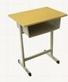 学生学习辅导班钢木课桌凳600