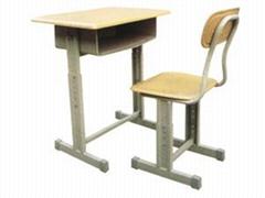鋼木課桌椅HX-K014
