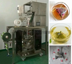 Full automatic electronic scale triangle teabag packing machine