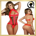 High Neck Lace Underwear Back Cut Out