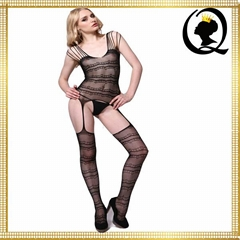 Sexy Hot Women Flirting Lingerie Garter Style Crotchless High Elasticity Net Nyl