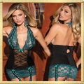 Wholesale Women Black Sweetheart Bustier Lace Corset Sexy Lingerie Babydoll Naug