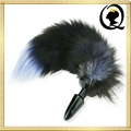 Popular adult toys fox's tail porn anal plug plaything Stainless Steel Metal But
