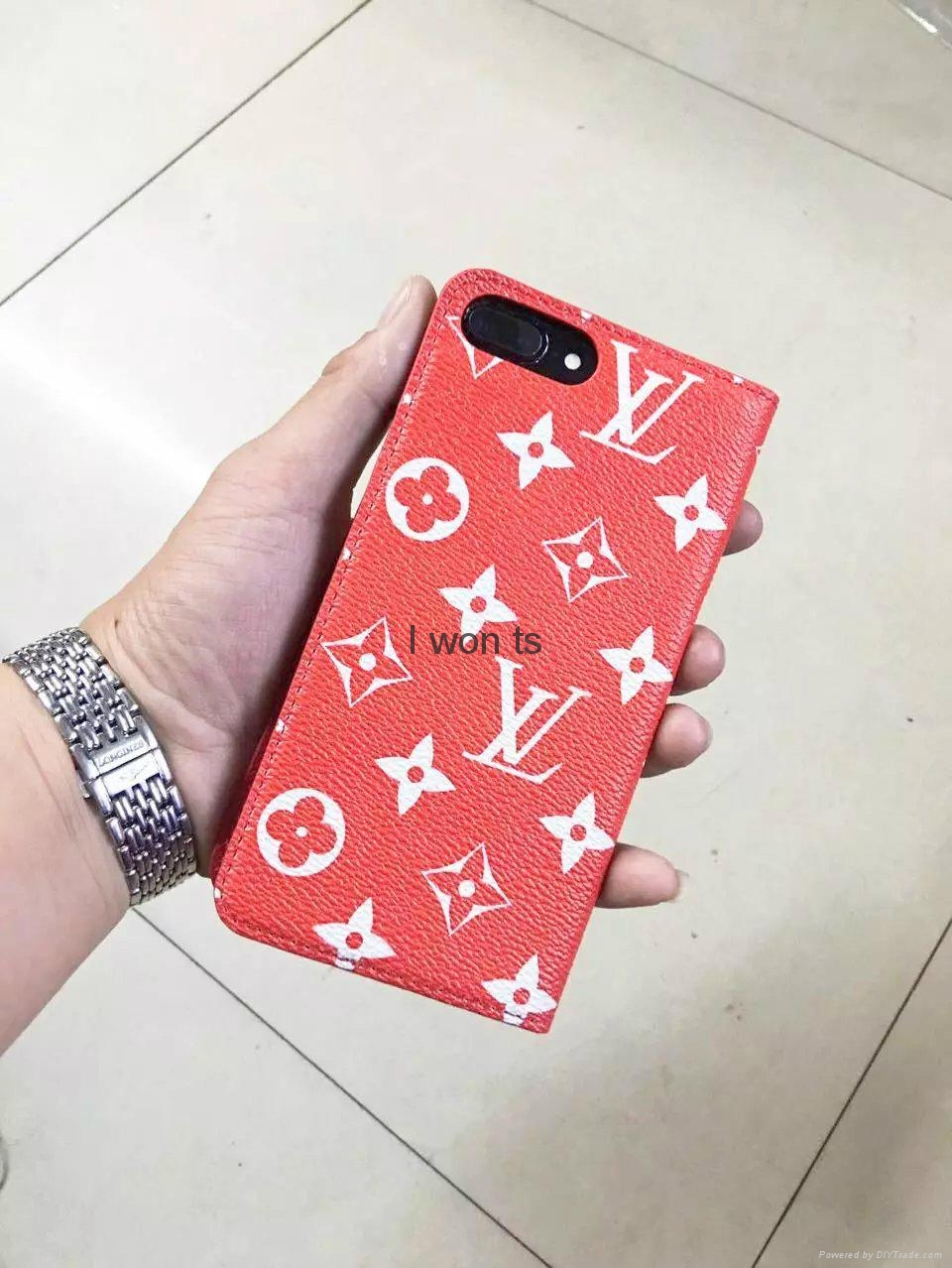 wholesale new fashion supreme red lv leather case covers. Black Bedroom Furniture Sets. Home Design Ideas