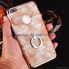Marble ring stent following 3 in 1 case for iphone 7 7 plus 6 6plus