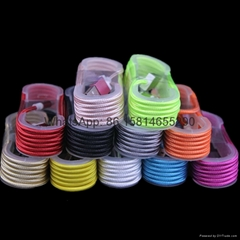 1.5M Micro V8 5pin USB Braided Fabric Data Sync Charger Cable Cords for Android