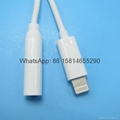 Wholesale hot Lightning to DC 3.5mm for iphone 7 7plus Headphone Jack Adapter