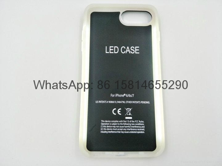 3rd Lumee 2 in1 mobile phone case with led  case for iphone samsung phone case 3