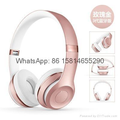 Wholesale best quality Good price logo wireless bluetooth headphones earphones  3