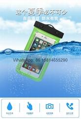 Hot Outdoor hanging type mobile phone waterproof bag swimming mobile phone case