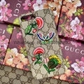 Hot selling New pattern Gucc embroidery  phone case for iphone7 7plus 6 6plus